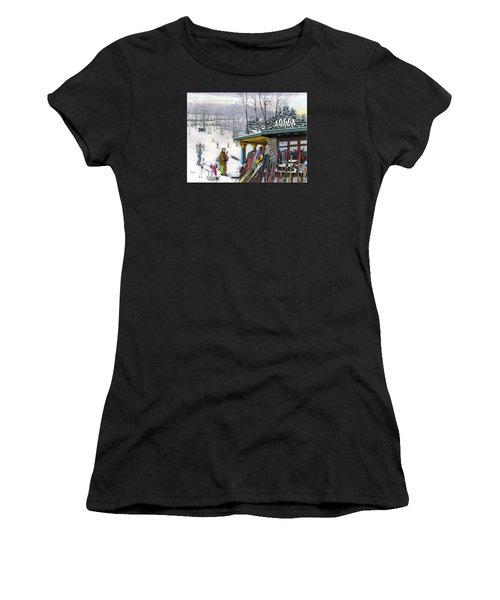 The Foggy Goggle At Seven Springs Women's T-Shirt (Athletic Fit)
