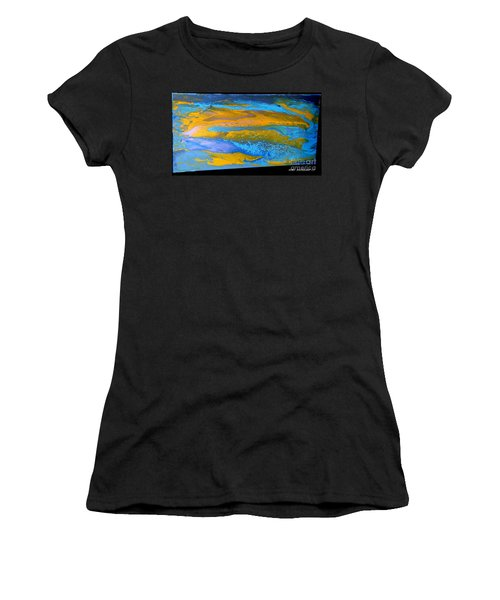 the GATOR in abstracr Women's T-Shirt (Athletic Fit)