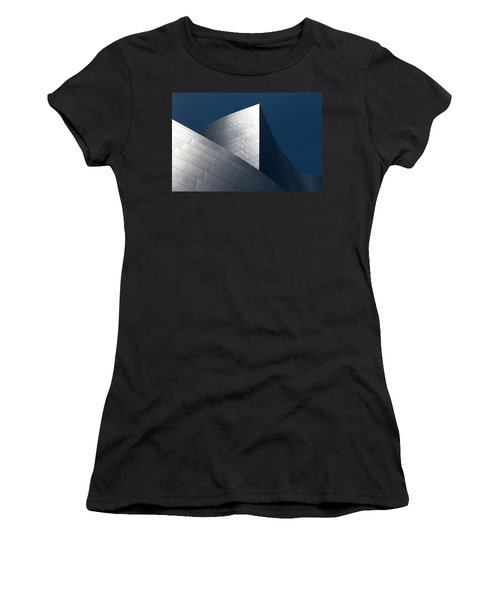 Women's T-Shirt featuring the photograph The Geometry Of Disney Hall by Lorraine Devon Wilke