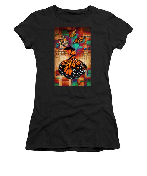 Women's T-Shirt (Athletic Fit) featuring the mixed media The Gift Of Life by Marvin Blaine
