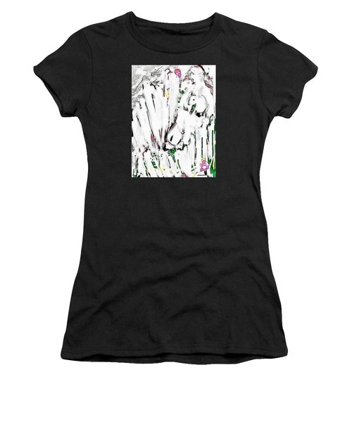 The Girl With Lambs Women's T-Shirt (Athletic Fit)