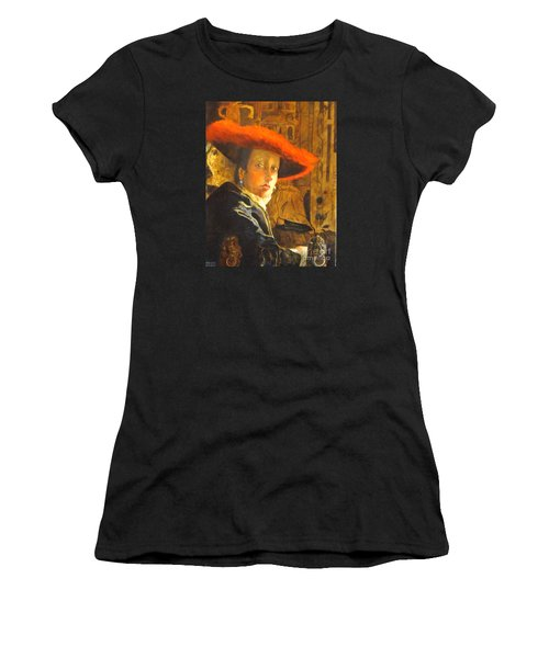 The Girl With The Red Hat After Jan Vermeer Women's T-Shirt