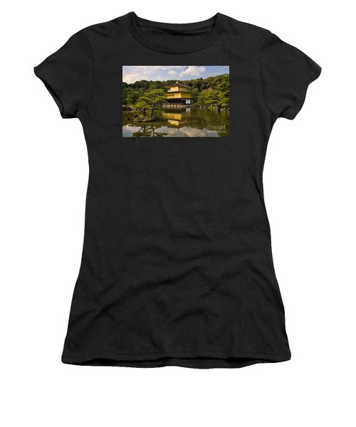 The Golden Pagoda In Kyoto Japan Women's T-Shirt (Athletic Fit)
