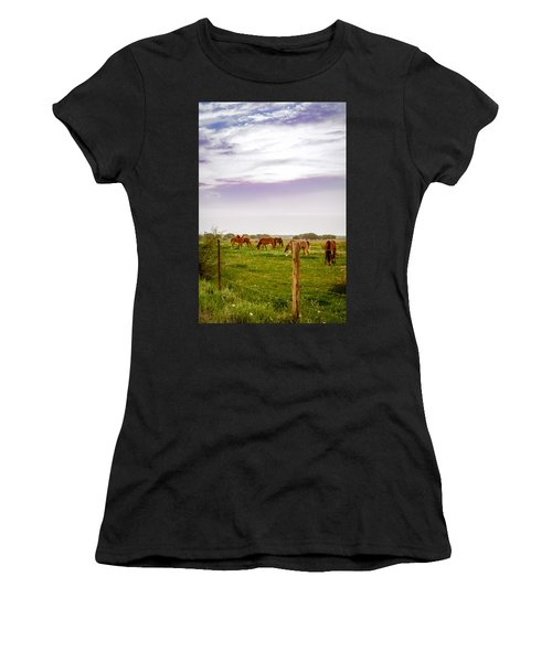 Women's T-Shirt featuring the photograph The Grass Was Greener by Melinda Ledsome
