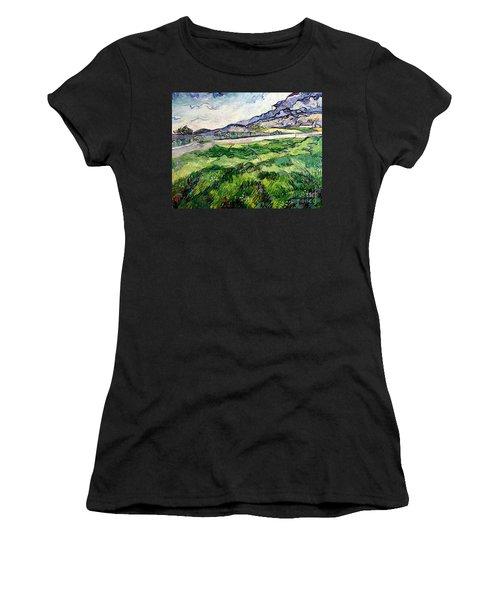 The Green Wheatfield Behind The Asylum Women's T-Shirt