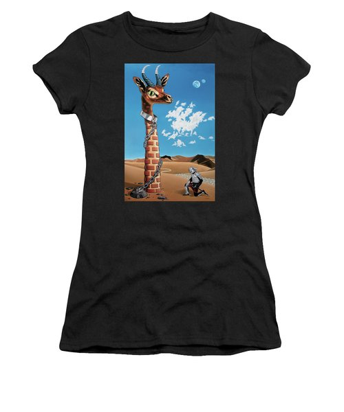 Women's T-Shirt (Athletic Fit) featuring the painting The Guardian by Paxton Mobley