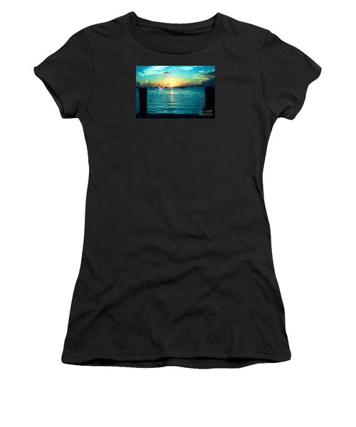 Women's T-Shirt (Junior Cut) featuring the painting The Gull by Judy Kay