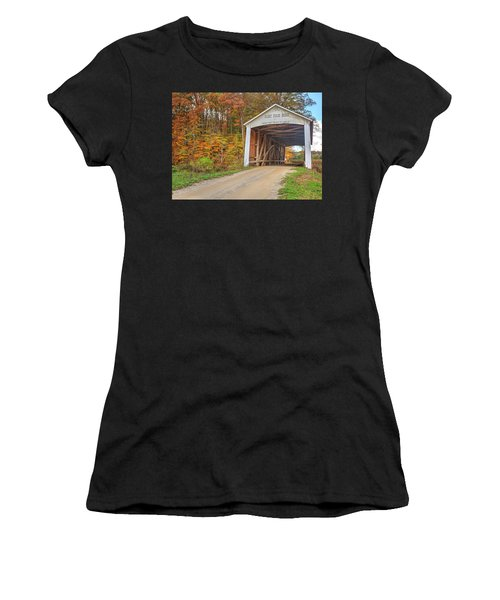 The Harry Evans Covered Bridge Women's T-Shirt
