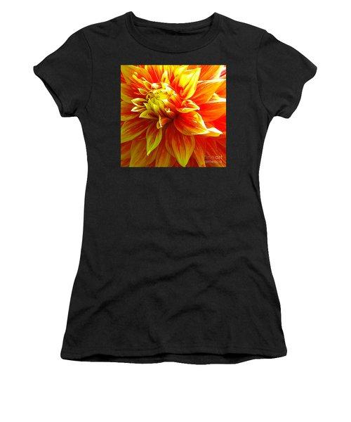 The Heart Of A Dahlia #2 Women's T-Shirt