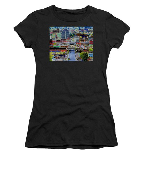 The Heart Of Downtown Spokane  Women's T-Shirt