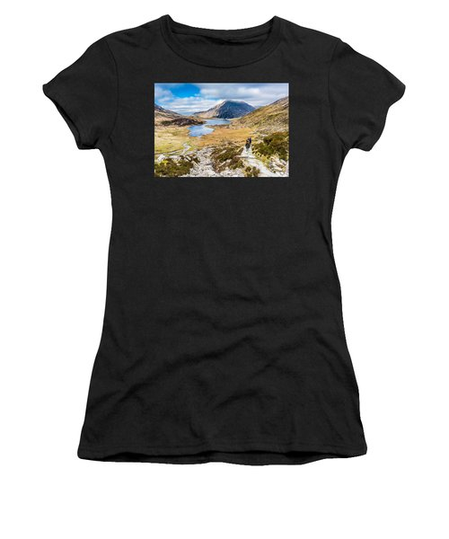 Women's T-Shirt featuring the photograph The Hike Back Down by Nick Bywater