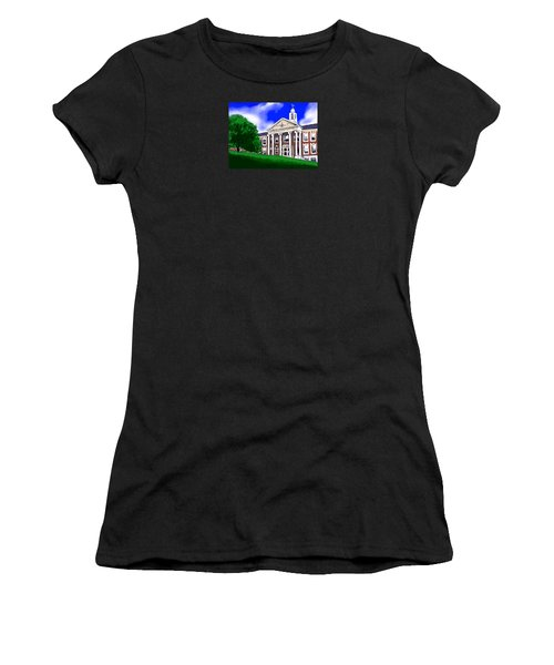 Women's T-Shirt (Junior Cut) featuring the painting The Hill by Jean Pacheco Ravinski