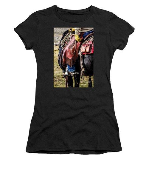 The Idaho Cowboy Western Art By Kaylyn Franks Women's T-Shirt