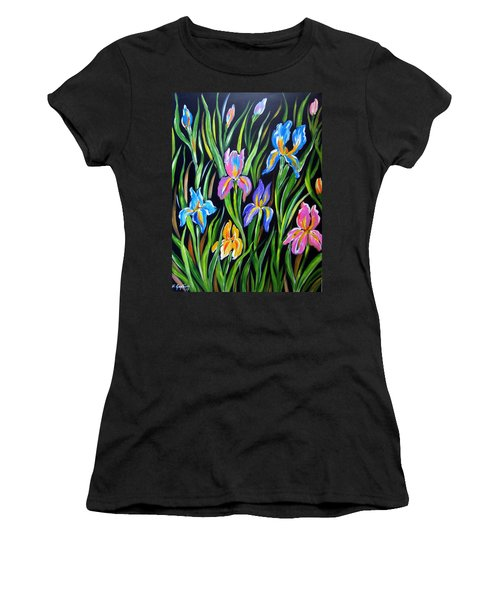 The Irises Women's T-Shirt (Athletic Fit)