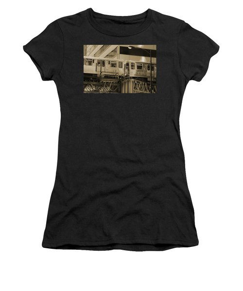 The L Downtown Chicago In Sepia Women's T-Shirt (Athletic Fit)