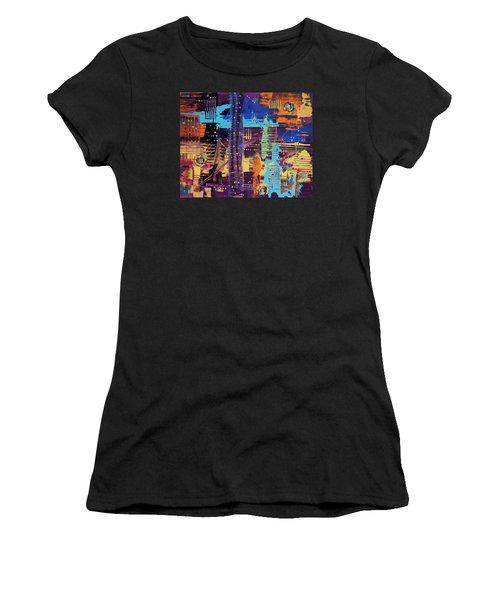 The L.a. Sky On The 4th Of July Women's T-Shirt (Athletic Fit)