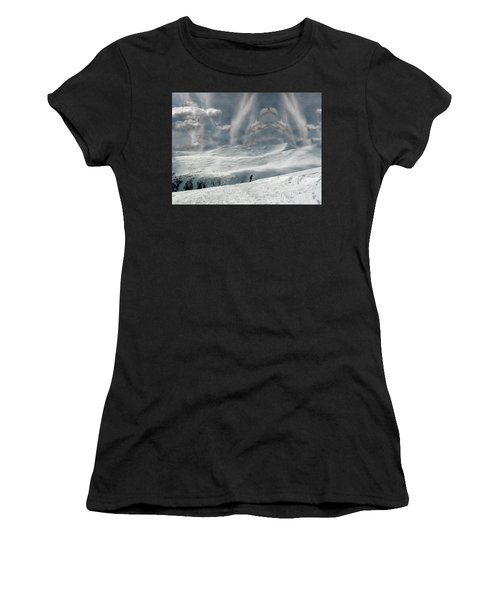 Women's T-Shirt featuring the photograph The Lone Boarder by Wayne King