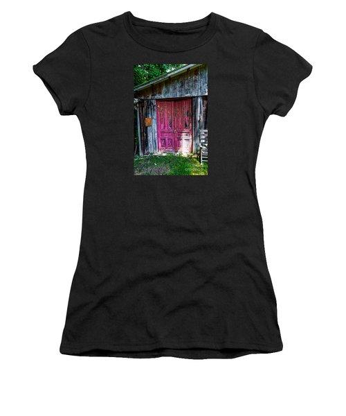The Magenta Doors Women's T-Shirt (Junior Cut) by Paul Mashburn