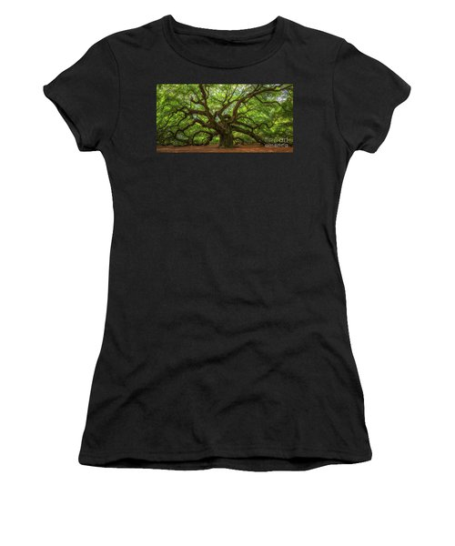 The Magical Angel Oak Tree Panorama  Women's T-Shirt (Athletic Fit)