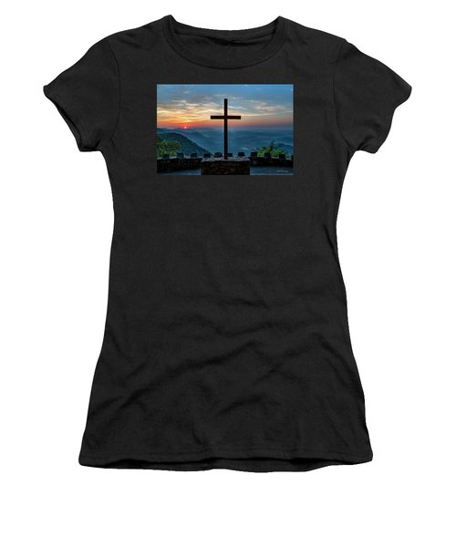 The Magnificent Cross Pretty Place Chapel Greenville Sc Great Smoky Mountains Art Women's T-Shirt