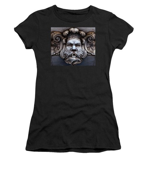Women's T-Shirt featuring the photograph The Mask by Lorraine Devon Wilke