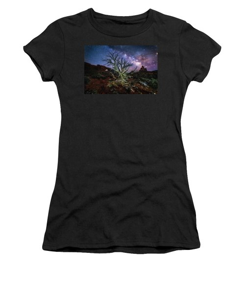 The Milky Way Tree Women's T-Shirt