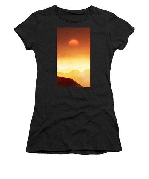 The Mountains  Women's T-Shirt (Athletic Fit)