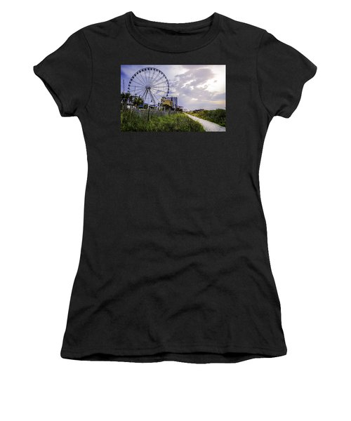 The Myrtle Beach, South Carolina Skywheel At Sunrise. Women's T-Shirt