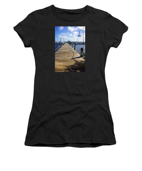 The Naples City Dock Women's T-Shirt (Junior Cut) by Robb Stan