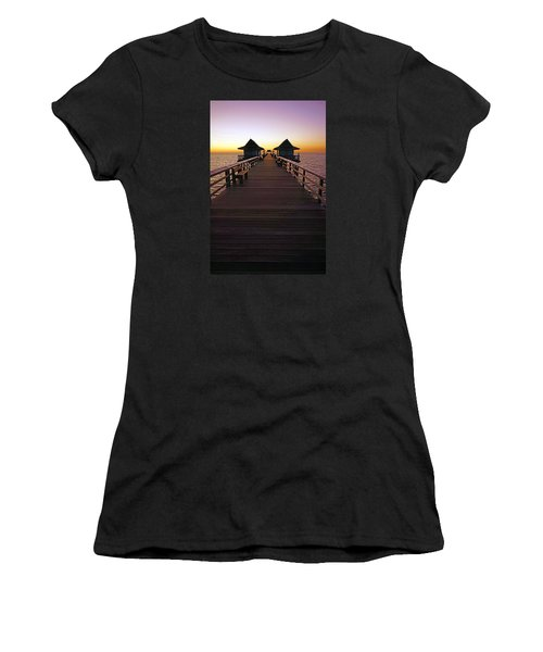 The Naples Pier At Twilight Women's T-Shirt