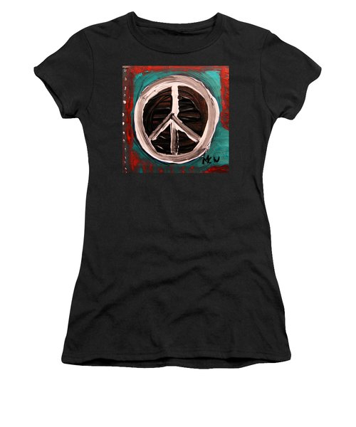 Women's T-Shirt (Junior Cut) featuring the painting The Need Continues by Mary Carol Williams