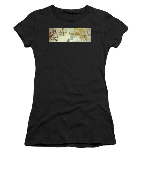 the Netherlands scroll Women's T-Shirt (Athletic Fit)