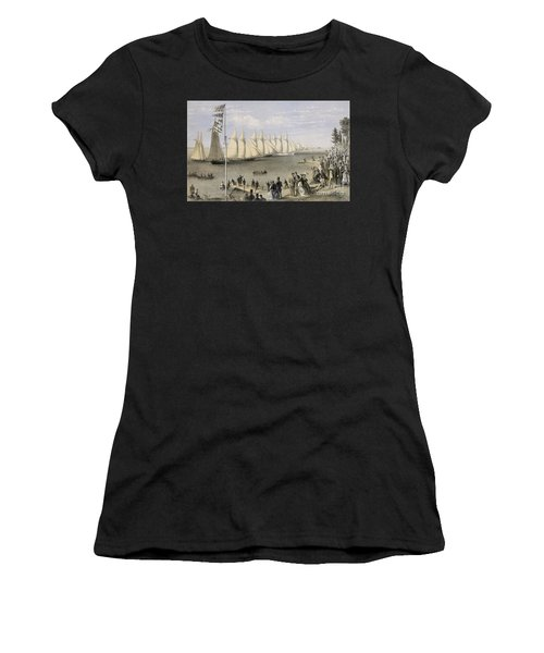 The New York Yacht Club Regatta, 1869 Women's T-Shirt