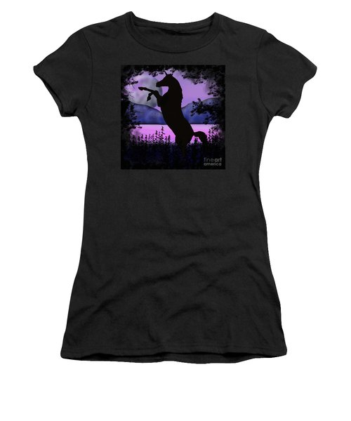 The Night Of The Unicorn Women's T-Shirt (Athletic Fit)
