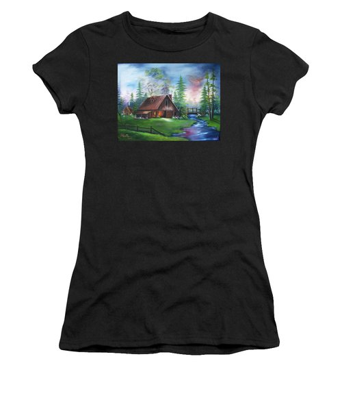 The Old Barn Women's T-Shirt (Athletic Fit)