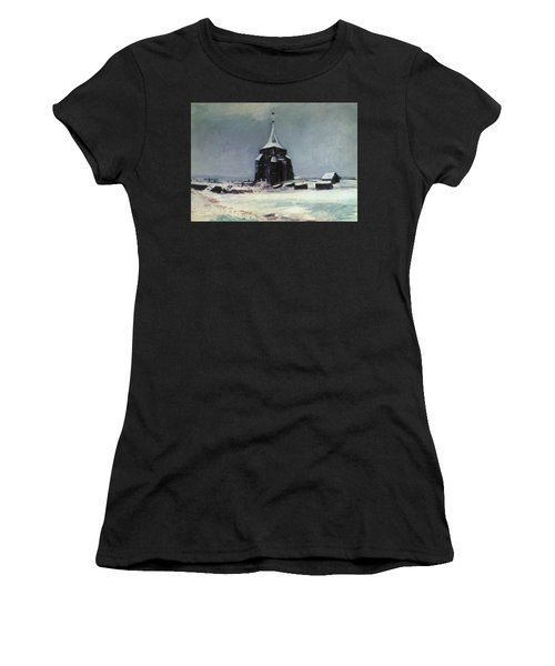 The Old Cemetery Tower At Nuenen In The Snow, 1885 Women's T-Shirt