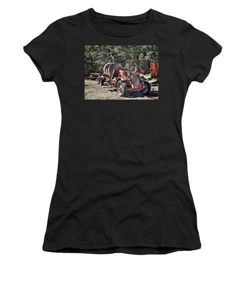 The Old Jalopy In Wine Country, California  Women's T-Shirt