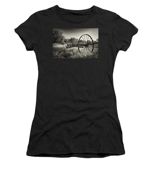 The Old Mower 2 In Black And White Women's T-Shirt