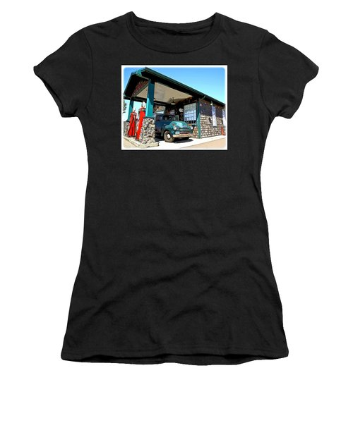 The Old Texaco Station Women's T-Shirt (Athletic Fit)