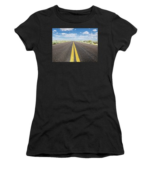 Women's T-Shirt featuring the photograph The Open Road by Margaret Pitcher