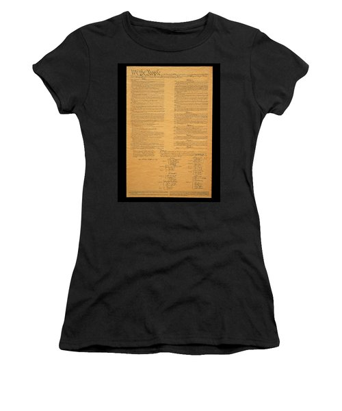 The Original United States Constitution Women's T-Shirt (Athletic Fit)