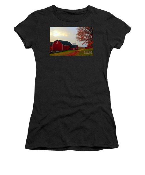The Orignal Historic Eggle Farms Barn That Burned Down Women's T-Shirt