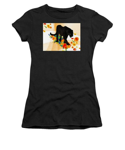 The Panther In The Flowerbed Women's T-Shirt (Athletic Fit)