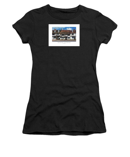 Women's T-Shirt featuring the digital art The Paper Boy - East Grinstead by Julian Perry