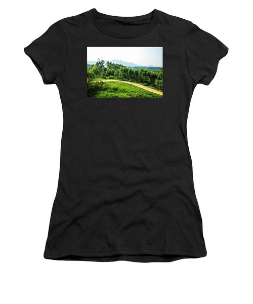 The Path In The Mountain Women's T-Shirt (Athletic Fit)