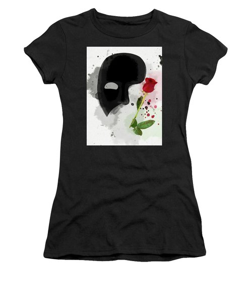 Women's T-Shirt featuring the mixed media The Phantom Of The Opera by Dan Sproul