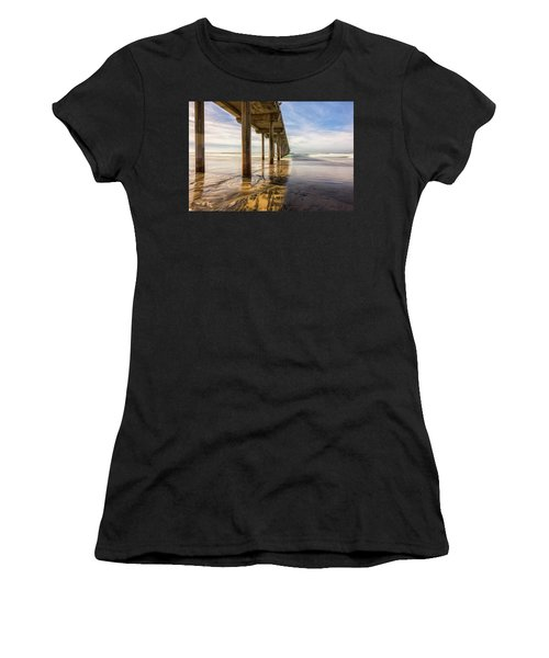 The Pier In Winter Scripps Women's T-Shirt