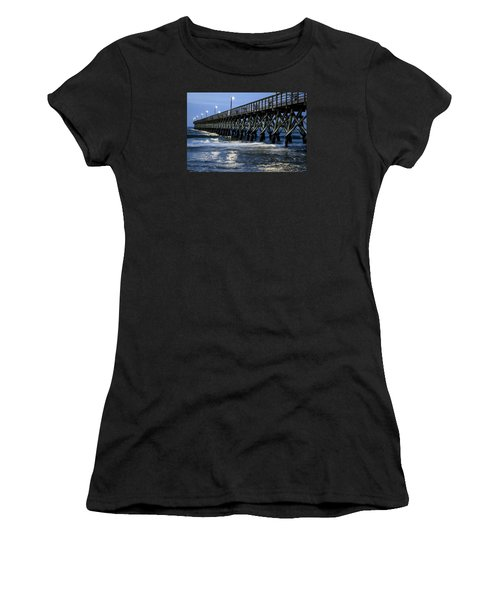 The Pier At The Break Of Dawn Women's T-Shirt (Junior Cut) by David Smith