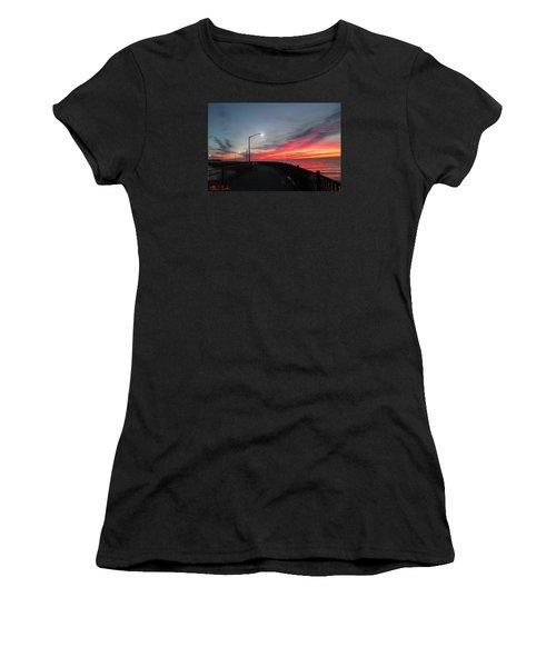 Women's T-Shirt (Junior Cut) featuring the photograph The Pier by Michael Rucker