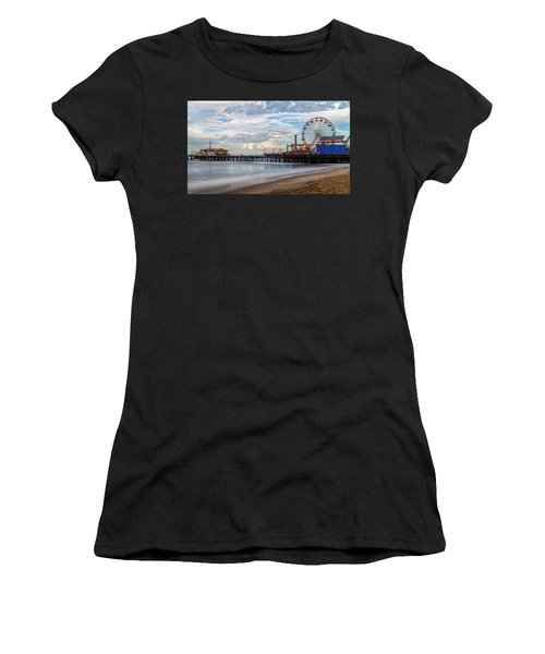 The Pier On A Cloudy Day Women's T-Shirt (Athletic Fit)